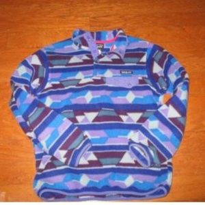 Vintage Patagonia Fleece Purple Size M
